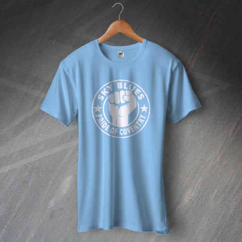 Coventry Football T-Shirt Sky Blues Pride of Coventry