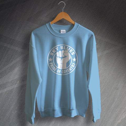 Coventry Football Sweatshirt Sky Blues Pride of Coventry