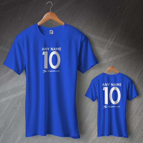 Sloganite Football T-Shirt Personalised Name & Number