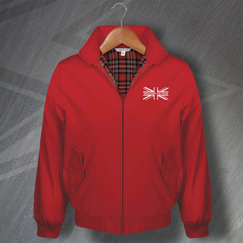Middlesbrough Football Harrington Jacket Embroidered Union Jack Smoggies On Tour