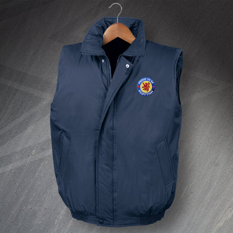 Proud to Be Scottish Padded Bodywarmer with Embroidered Badge