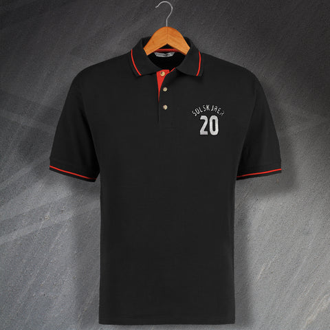 Solskjaer 20 Embroidered Contrast Polo Shirt