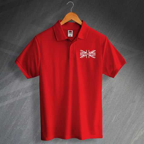 Southampton Football Polo Shirt Embroidered Union Jack