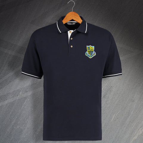 Southend Football Polo Shirt Embroidered Contrast 1975, 1980 or 1982