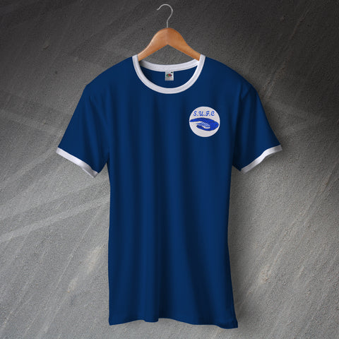Southend Football Shirt Embroidered Ringer 1975