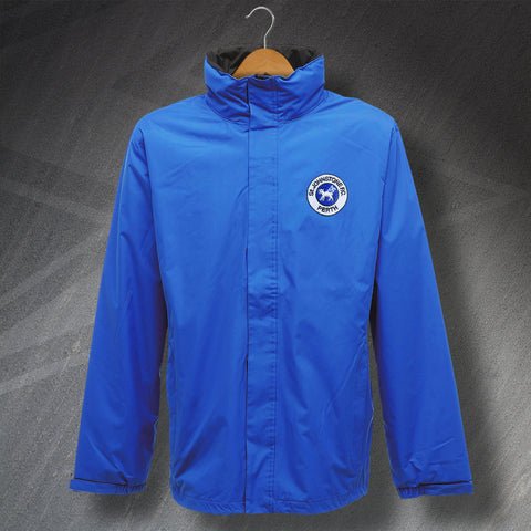 St Johnstone Football Jacket Embroidered Waterproof 1980