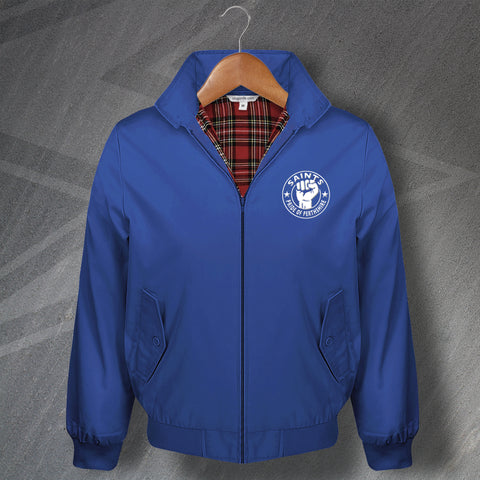 St Johnstone Football Harrington Jacket Embroidered Saints Pride of Perthshire