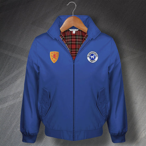 St Johnstone Football Harrington Jacket Embroidered 1980 & 1879 Scotland National Team Badge