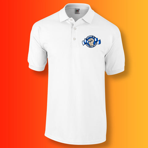 Super Js Polo Shirt with Keep The Faith Design White