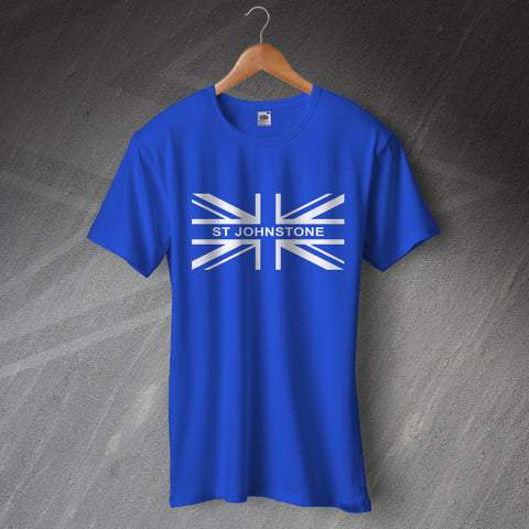 St Johnstone Football T-Shirt Union Jack