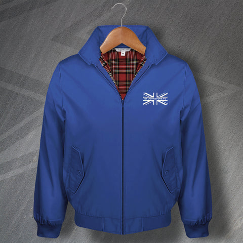 St Johnstone Football Harrington Jacket Embroidered Union Jack