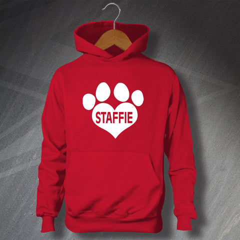 Staffordshire Bull Terrier Hoodie Children's Paw Heart