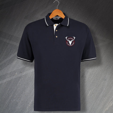 Ross County Football Polo Shirt Embroidered Contrast The Pride of The Highlands