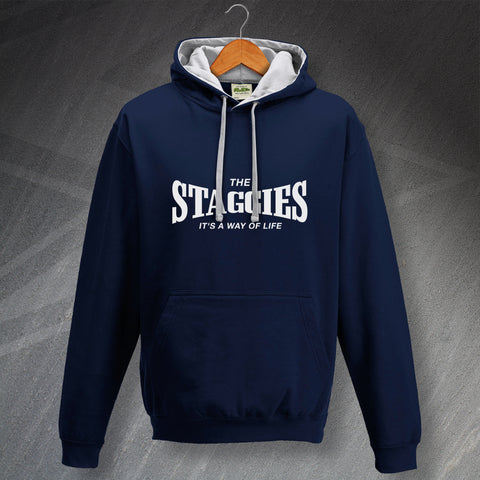 Ross County Football Hoodie Contrast The Staggies It's a Way of Life