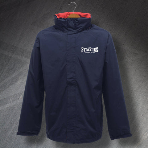 Ross County Football Jacket Embroidered Waterproof The Staggies It's a Way of Life