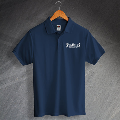Ross County Football Polo Shirt Embroidered The Staggies It's a Way of Life