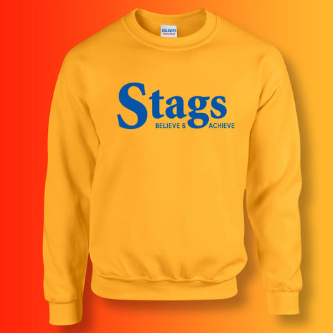 Stags Sweater with Believe & Achieve Design