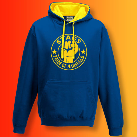 Stags Contrast Hoodie with The Pride of Mansfield Design