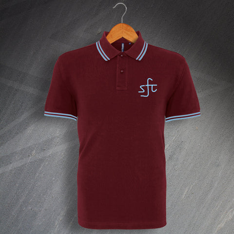 Retro Stenhousemuir Embroidered Tipped Polo Shirt