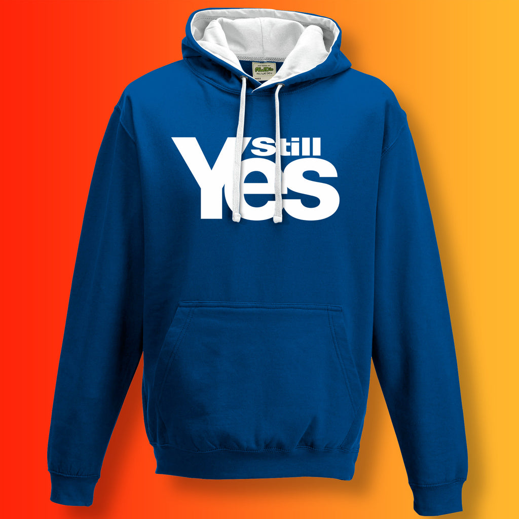 Scotland Still Yes Unisex Contrast Hoodie Blue White