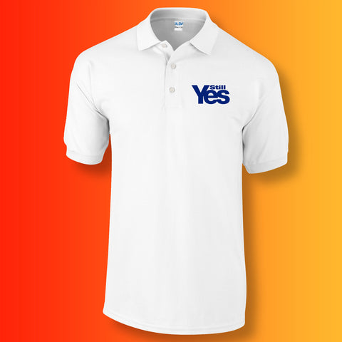 Scotland Still Yes Unisex Polo Shirt White