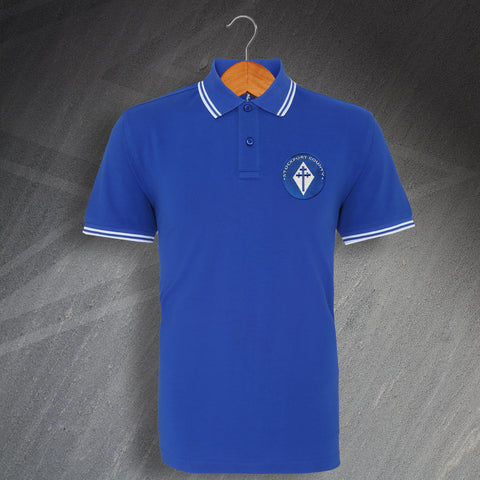 Stockport Football Polo Shirt Embroidered Tipped 1978