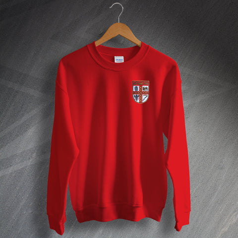 Stoke Football Sweatshirt Embroidered 1953