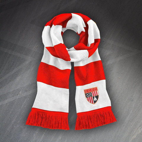 Stoke Football Bar Scarf Embroidered 1977