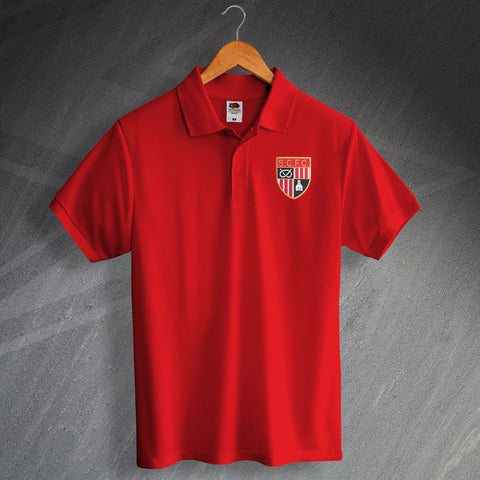 Stoke Football Polo Shirt Embroidered 1977
