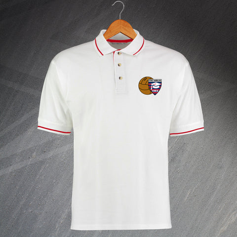 Stoke Football Polo Shirt Embroidered Contrast Stoke Ramblers