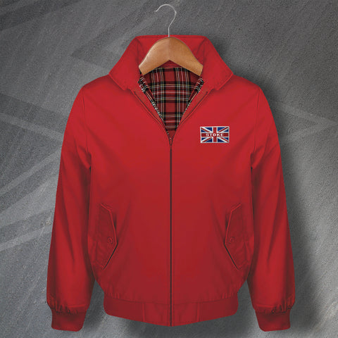 Stoke Football Harrington Jacket Embroidered Union Jack