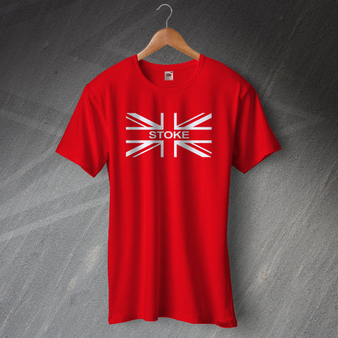 Stoke Football T-Shirt Embroidered Union Jack