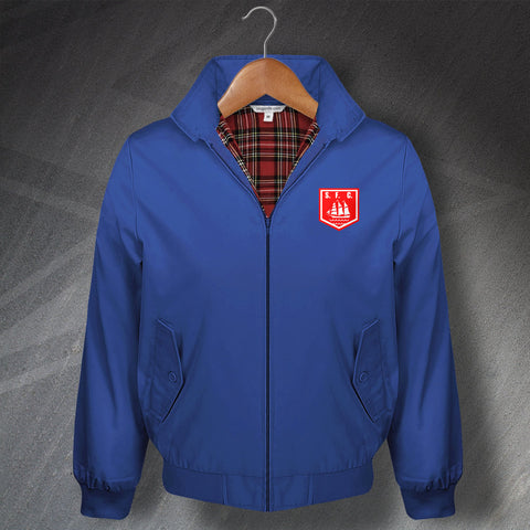 Retro Stranraer Classic Harrington Jacket with Embroidered Badge