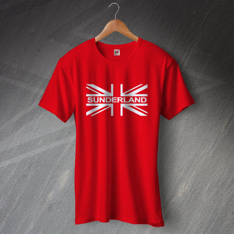 Sunderland Football T-Shirt Union Jack