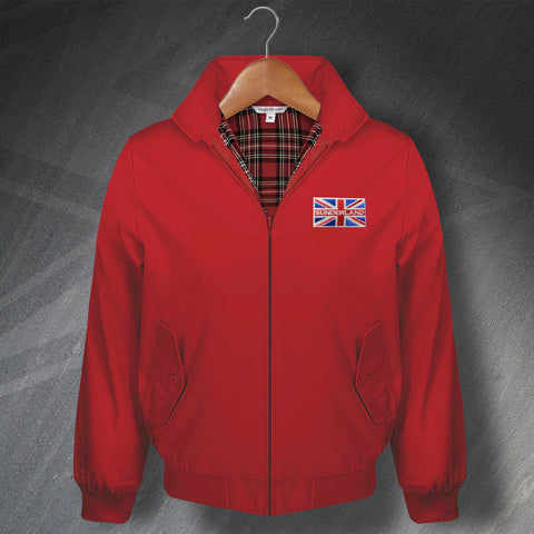 Sunderland Embroidered Union Jack Flag Classic Harrington Jacket