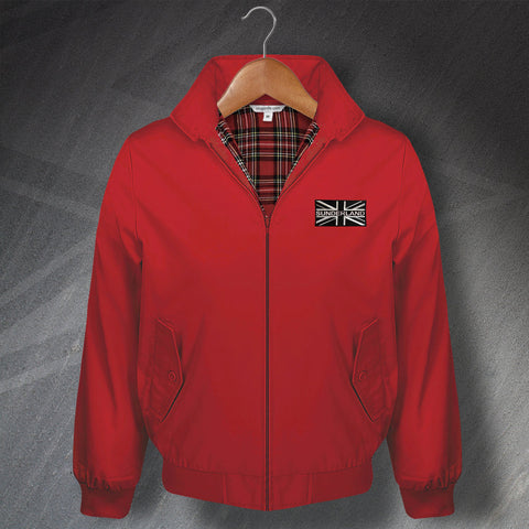 Sunderland Classic Harrington Jacket with Embroidered Union Jack Badge