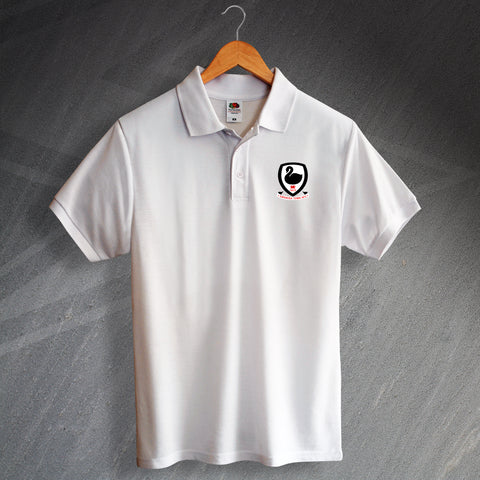 Swansea Football Polo Shirt Embroidered Swansea Town AFC 1912