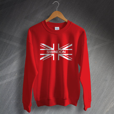Swindon Football Sweatshirt Union Jack