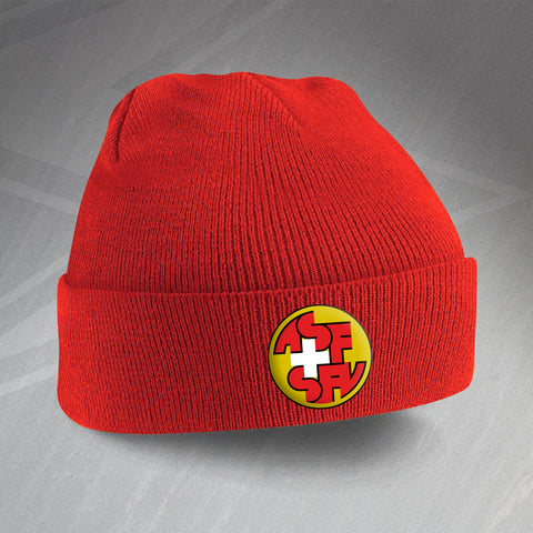 Switzerland Football Beanie Hat Embroidered 1990