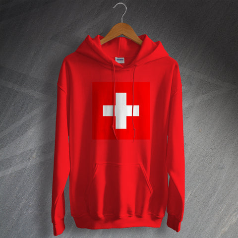 Switzerland Football Hoodie Flag of Switzerland