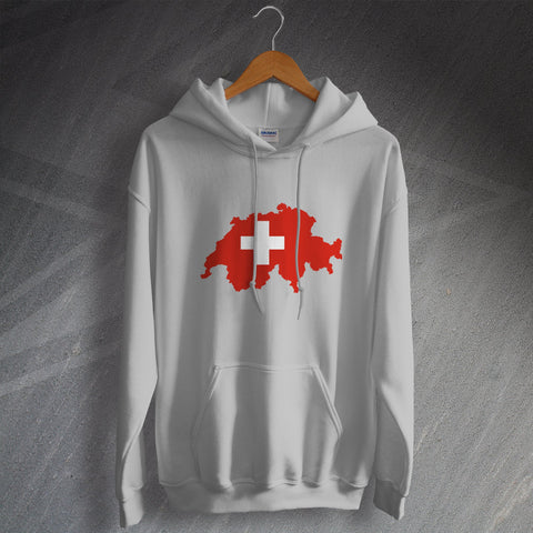 Switzerland Hoodie Flag Map