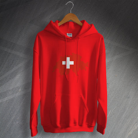 Switzerland Football Hoodie Flag Map