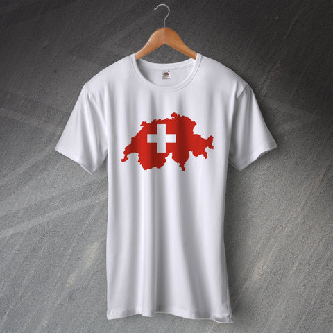 Switzerland T-Shirt Flag Map