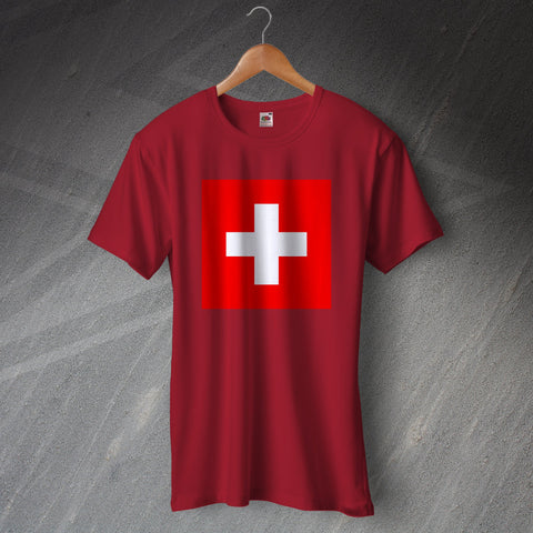 Switzerland Football T-Shirt Flag of Switzerland