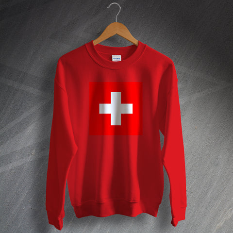 Switzerland Football Sweatshirt Flag of Switzerland