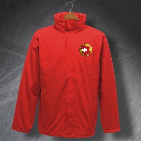 Switzerland Football Jacket Embroidered Waterproof 1990