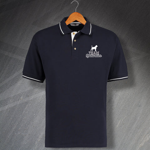 Rottweiler Polo Shirt Embroidered Contrast Team Rottweiler
