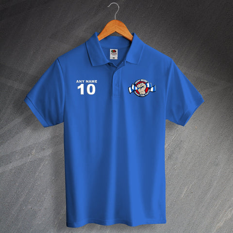 Rangers Football Polo Shirt Printed Personalised Teddy Bears Keep The Faith