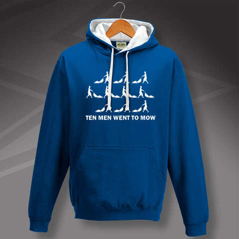 Chelsea Football Hoodie Contrast Ten Men Went To Mow