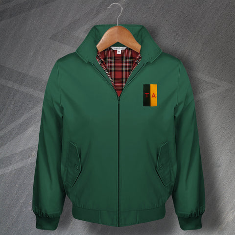 Territorial Army Harrington Jacket Embroidered Colours & Lettering